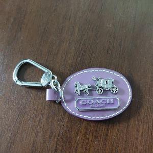 Coach logo Keychain